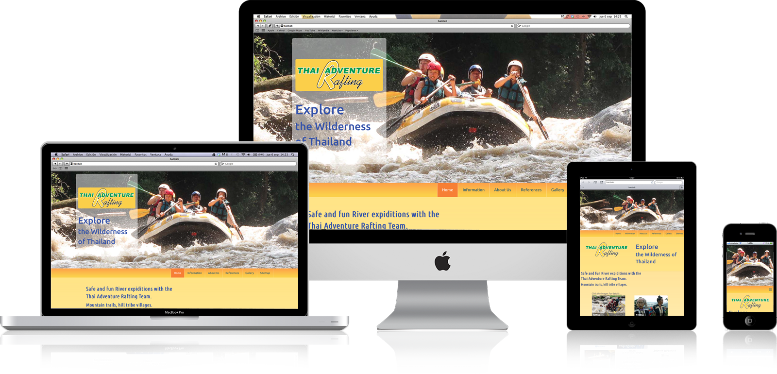 Website redesign for ThaiRafting.com